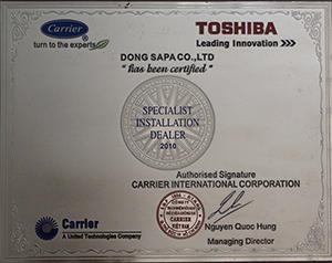 Chứng nhận Toshiba