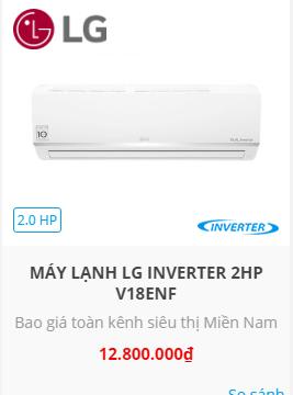 máy lạnh lg inverter 2hp v18ens