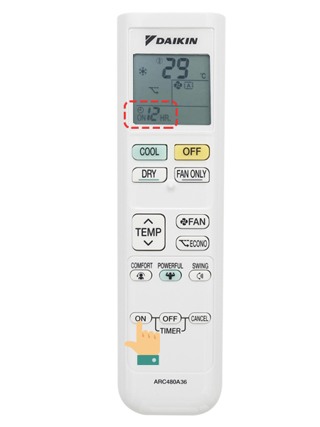 hướng dẫn sử dụng remote Daikin