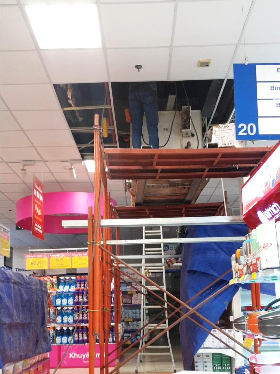 cải tạo, sửa chữa hệ thống điều hòa không khí cho Siêu thị Coopmart Buôn Ma Thuột