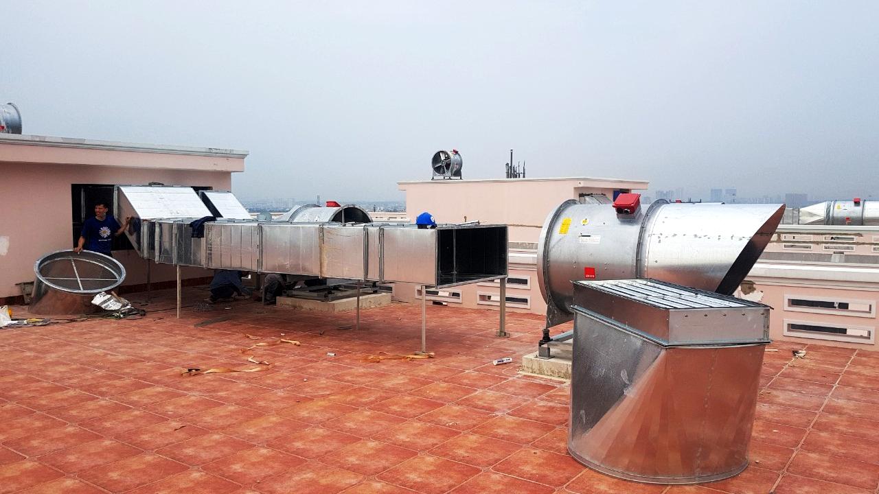 lắp đặt hệ thống thông gió tạo áp, khí sạch phòng mổ bệnh viện Hồng Đức