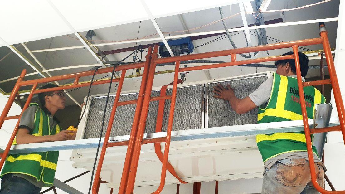 cải tạo, sửa chữa hệ thốn điều hòa không khí cho Siêu thị Coopmart Phan Thiết.